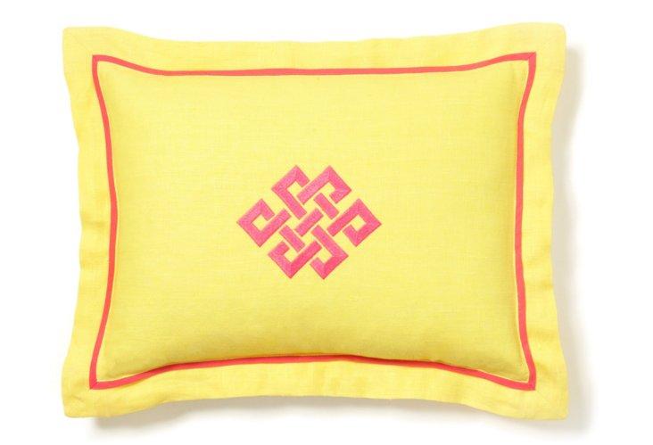 Boudoir Pillow, Sunshine/ Fuchsia