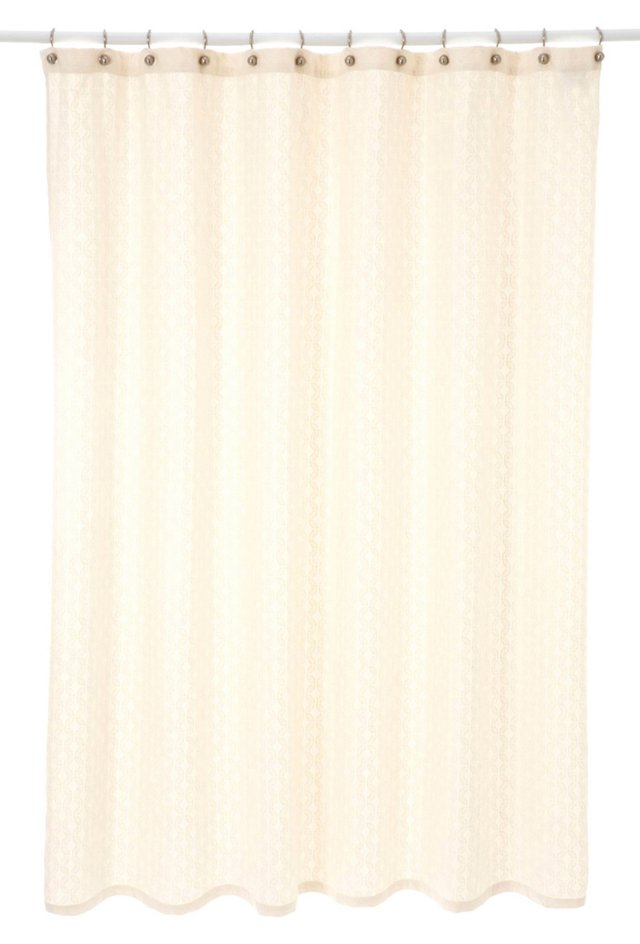 Vada Shower Curtain, Pearl