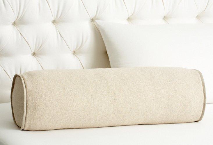 Pebble Bolster Pillow, Pearl