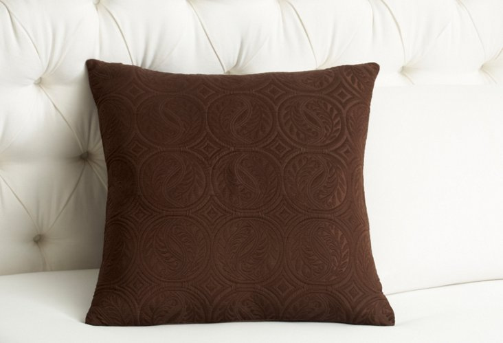 Vienna Square Pillow, Chocolate