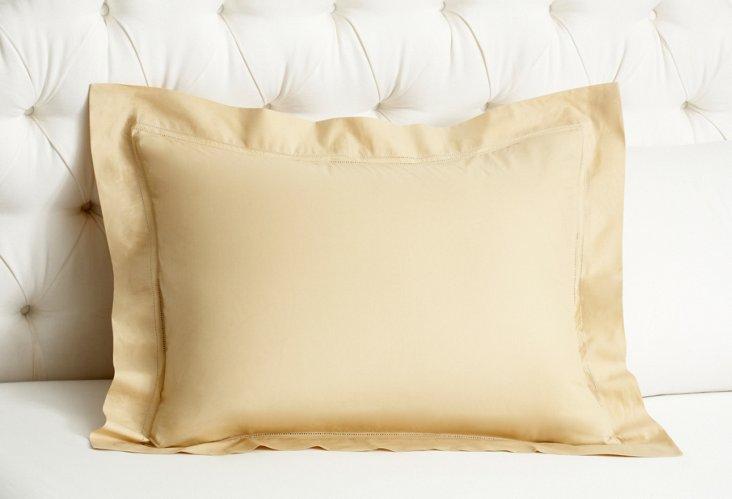 Verona Sateen Standard Sham, Gold