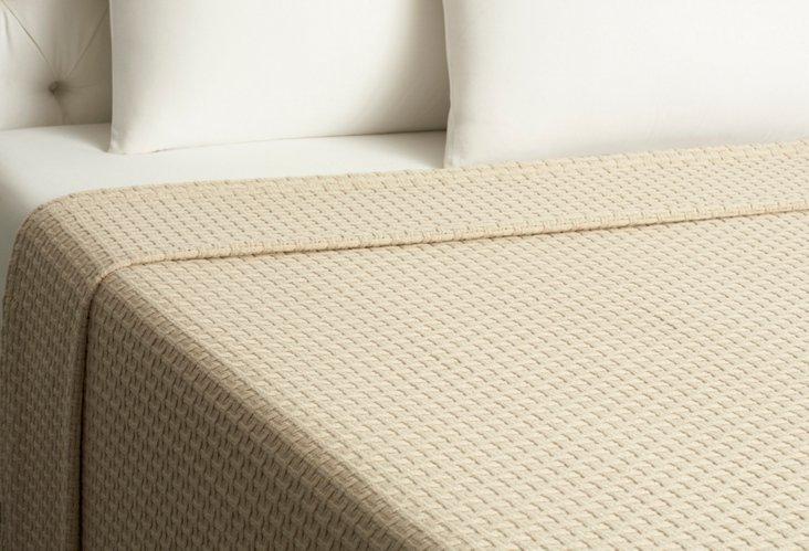 Basket Weave Blanket, Linen