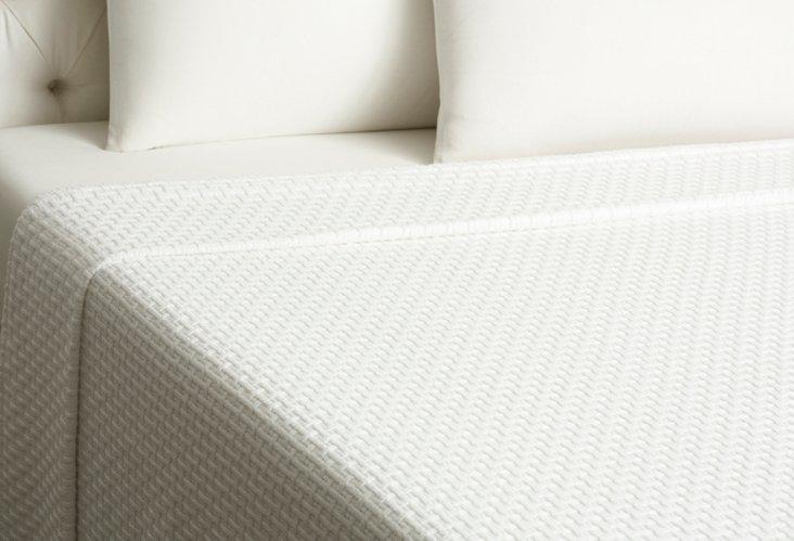 Basket Weave Blanket, White