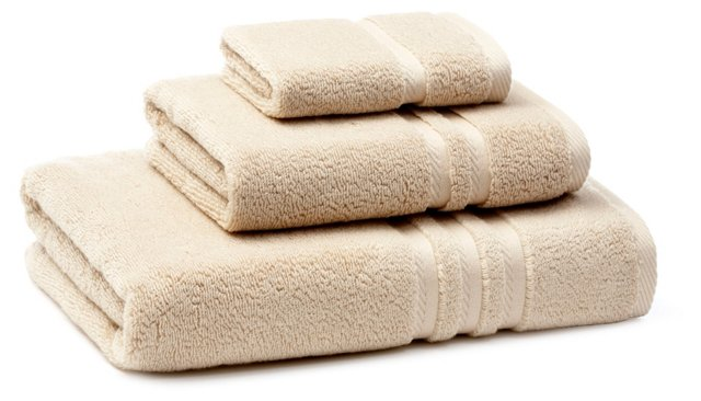 3-Pc Boca Towel Set, Taupe