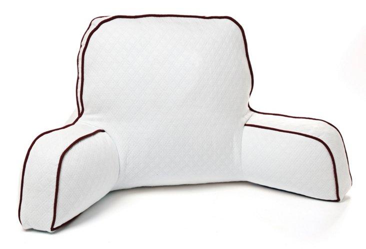 White Boyfriend Pillow, Bordeaux