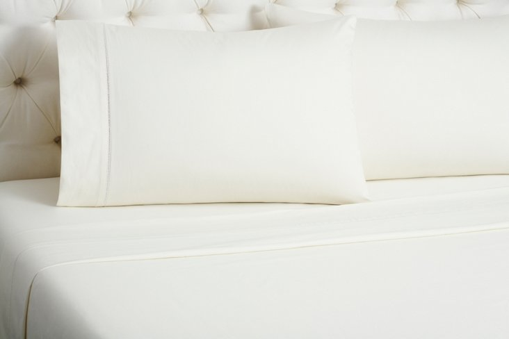 Kg Ladder Sheet Set, Ivory