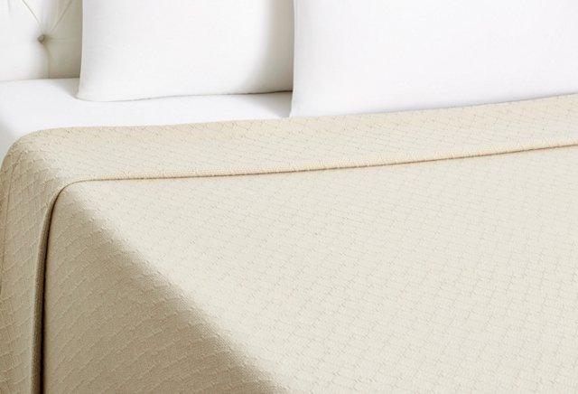Twin-Diamond Blanket, Linen