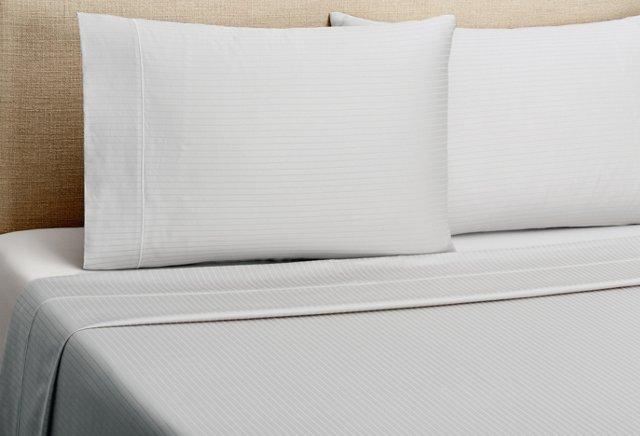 Ballet Stripe Sheet Set, Gray