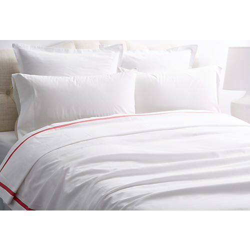Pique Tailored Coverlet, Petal
