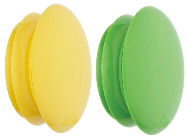 S/6 Clips, Lemons/Green Apple