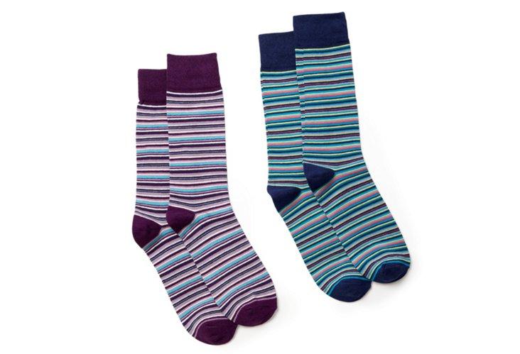 Blue & Purple Multi Stripe