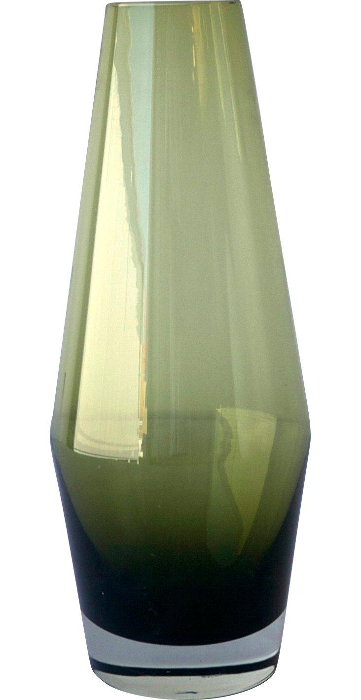 Wasabi Green Glass Vase