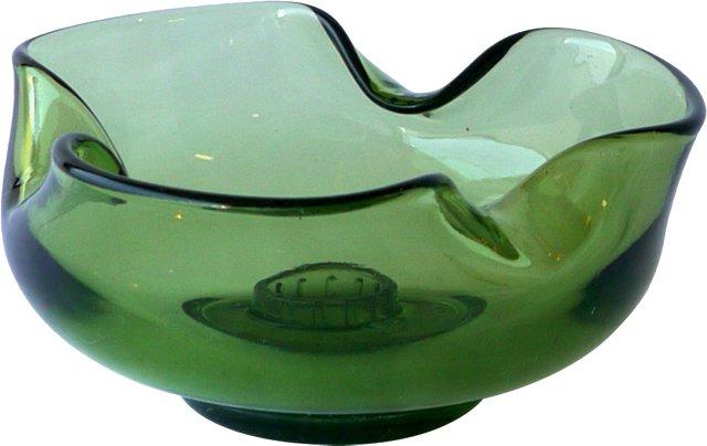 Wasabi Green Glass Bowl