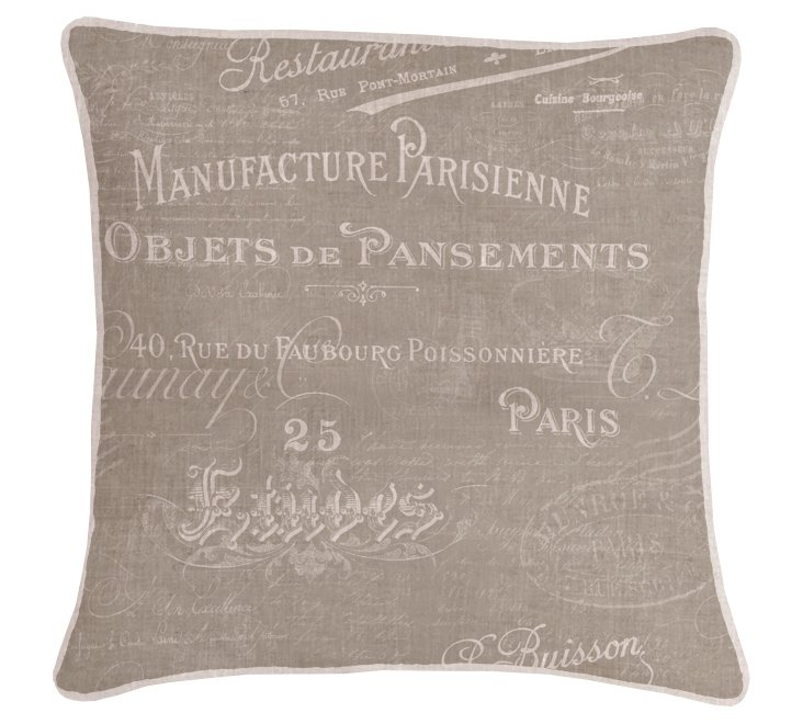 French 20x20 Pillow, Natural