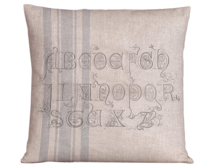 German 20x20 Pillow, Nordic Blue