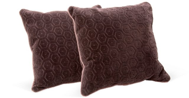 Concerto Patterned Pillows, Pair
