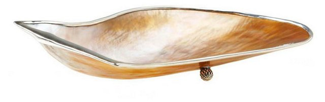 "7"" Mabe & Sterling-Silver Dish"