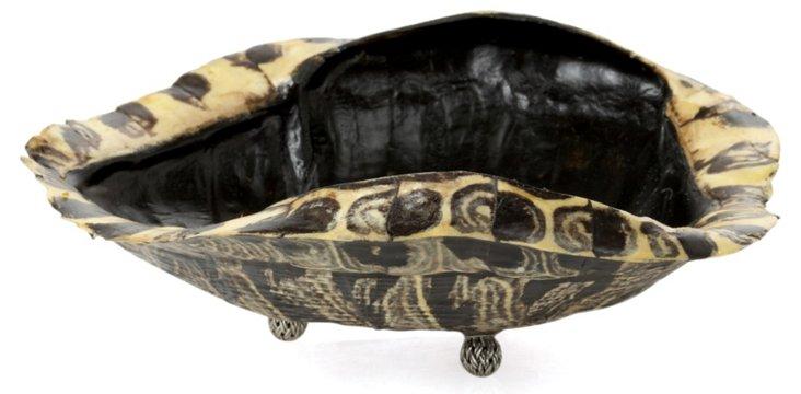 "8"" Tortoiseshell & Sterling-Silver Dish"
