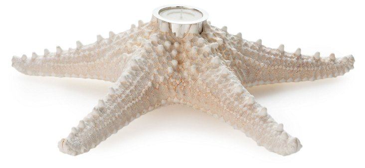 """12"""" Starfish Candleholder w/ SS Accent"""