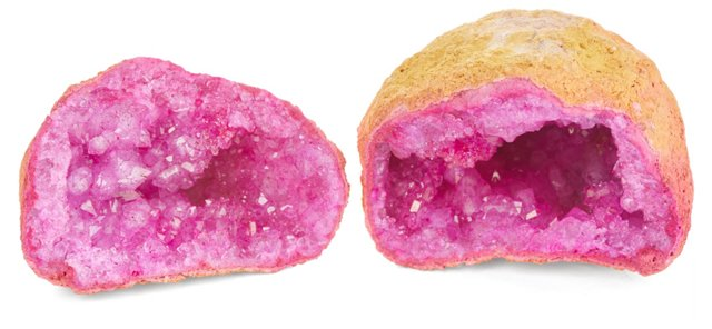 Decorative Geode, Pink