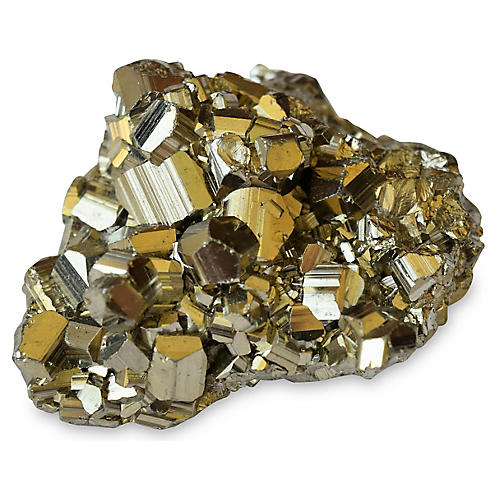 """4"""" Pyrite Cluster, Gold"""
