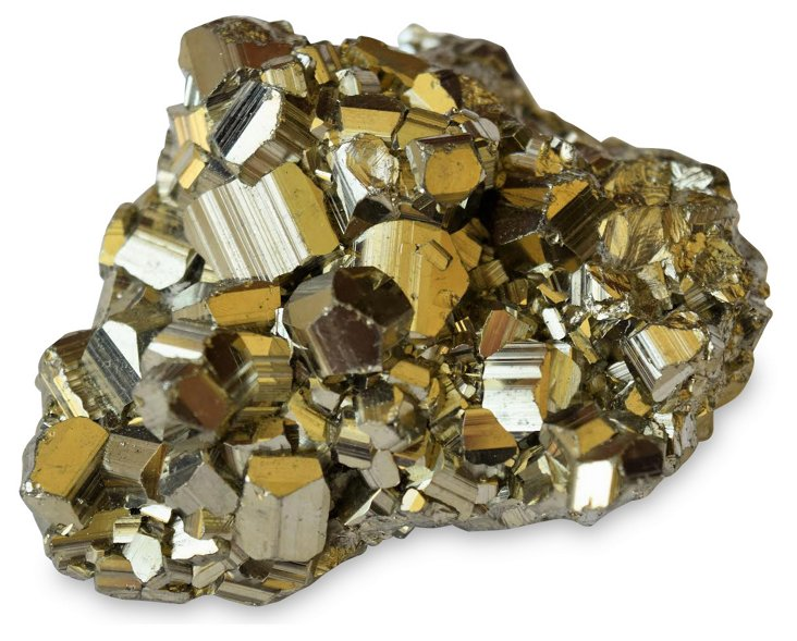 """3"""" Pyrite Cluster, Gold"""