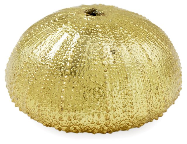 Small 18-Kt Gold-Plated Sea Urchin