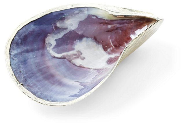 Silver-Plated Oyster Shell