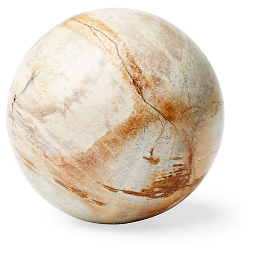 "4"" Petrified Wood Sphere, Natural"