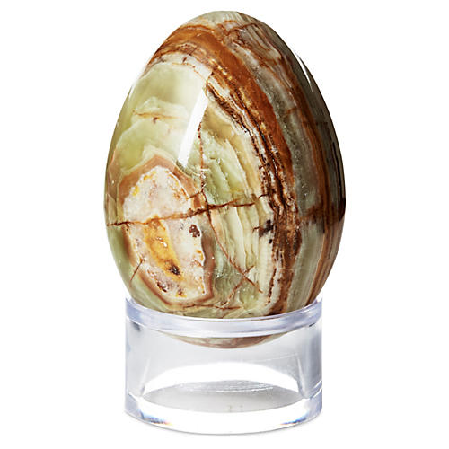 Agate Egg on Stand