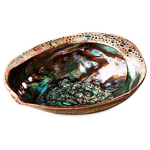 Pāua Abalone Shell w/ Copper