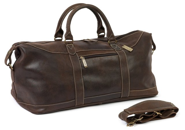 Leather Arctic Duffel, Distressed Brown