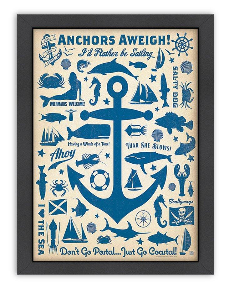 CC Anchor Pattern Print