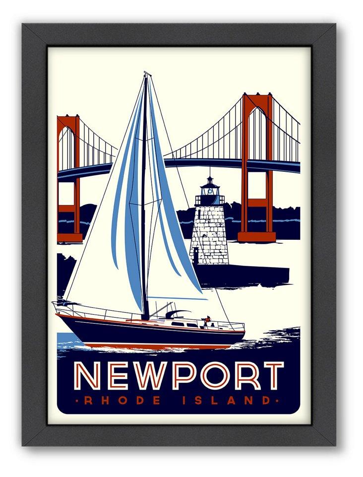 Newport Travel Poster