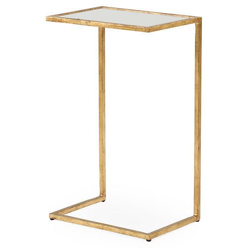 Graham Side Table, Gold Leaf