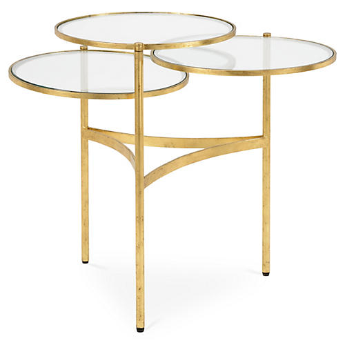 Florence Tricircle Coffee Table, Gold