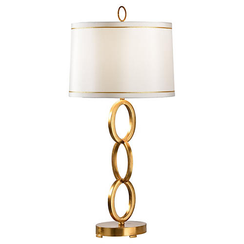 Oval Ring Table Lamp, Gold Leaf