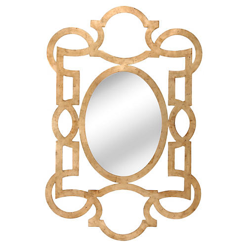 Tracery Mirror, Gold