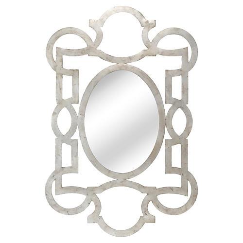 "40""x59"" Oversize Mirror, Silver"