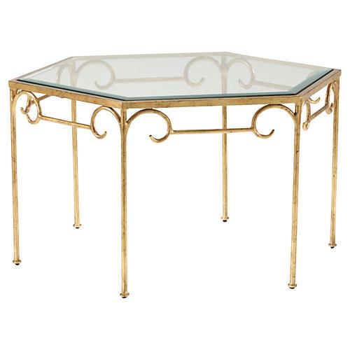 Lorenzo Coffee Table, Gold