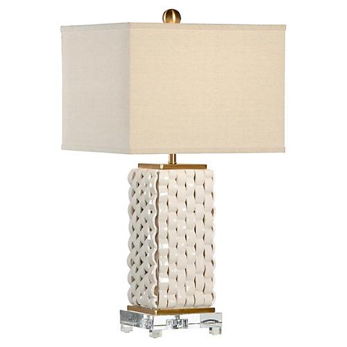 Emma Table Lamp, Beige