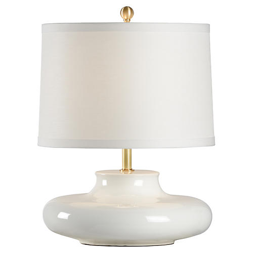 Gainsboro Porcelain Table Lamp, White