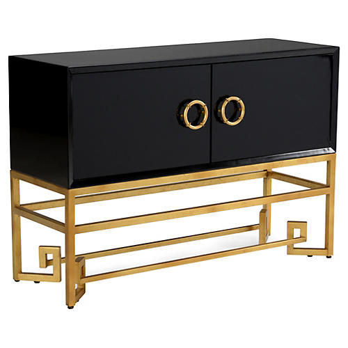 Decker Sideboard, Black/Gold