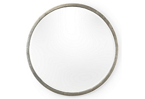 Round Wall Mirror, Silver Leaf*