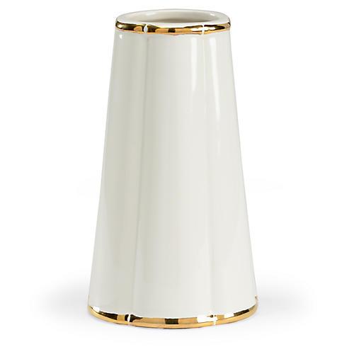 """10"""" Lambert Vase, White"""
