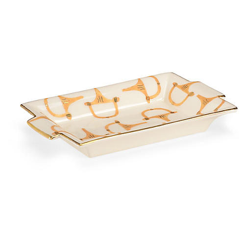 "10"" Stirrup Tray, Cream"
