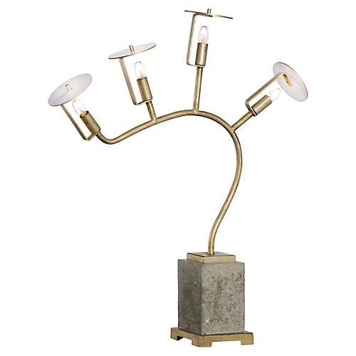 Orchid Table Lamp, Concrete