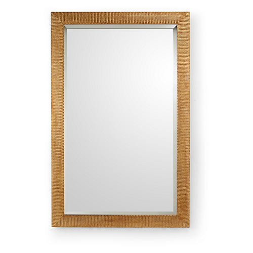 Classic Oversize Wall Mirror, Gold
