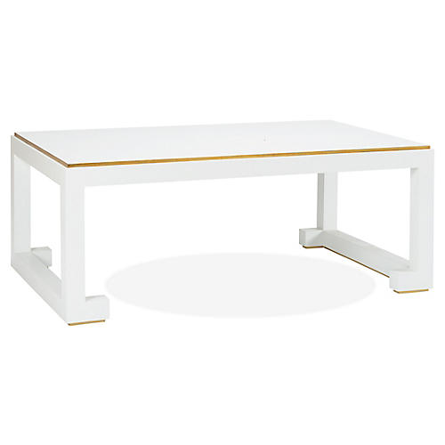 Chow Coffee Table, White/Gold