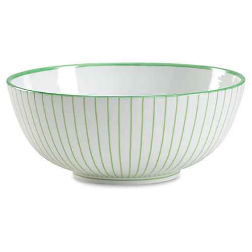 "15"" Castle Decorative Bowl, Green"